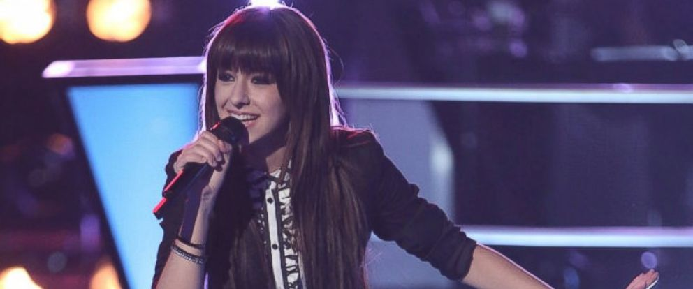 """PHOTO: Christina Grimmie performs on """"The Voice,"""" March 25, 2014."""