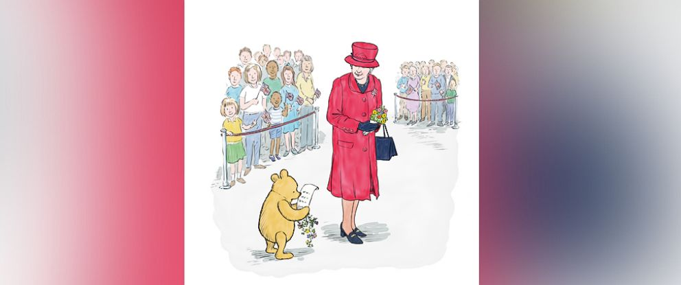 PHOTO: Winnie-the-Pooh and Queen Elizabeth?s 90th birthdays are celebrated in a new book.