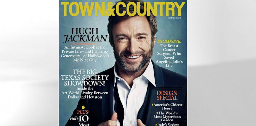 PHOTO: Hugh Jackman appears on the 2013 October issue of Town and Country Magazine.