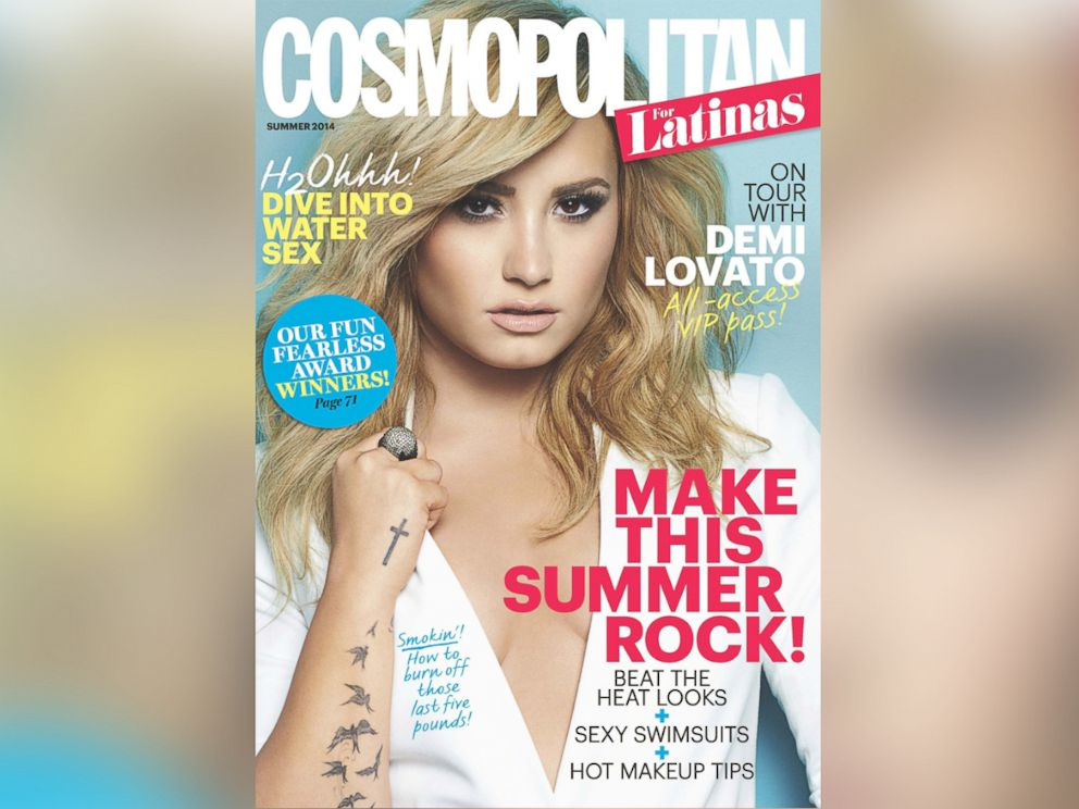PHOTO: Demi Lovato poses on the June 2014 cover of Cosmopolitan.