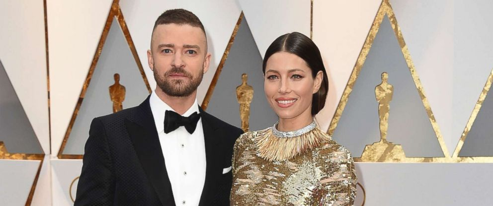PHOTO: Justin Timberlake, left, and Jessica Biel arrive at the Oscars on Feb. 26, 2017, at the Dolby Theatre in Los Angeles.