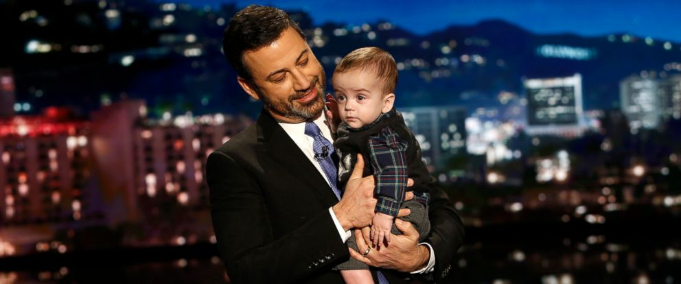 "PHOTO: Jimmy Kimmel is pictured with his son Billy on ""Jimmy Kimmel Live!"", Dec. 11, 2017."