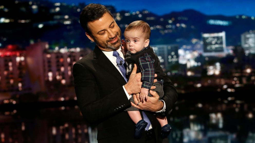 "Jimmy Kimmel is pictured with his son Billy on ""Jimmy Kimmel Live!"", Dec. 11, 2017."