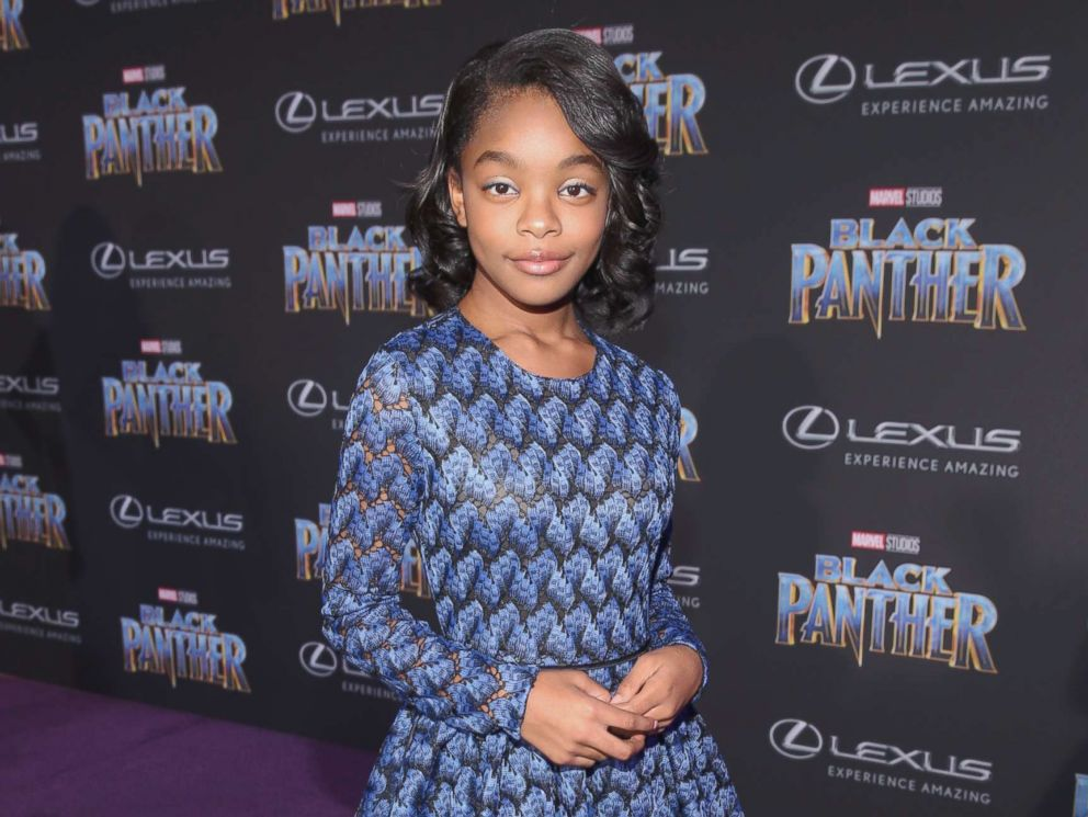 PHOTO: Marsai Martin at the Los Angeles World Premiere of Marvel Studios BLACK PANTHER at Dolby Theatre on Jan. 29, 2018 in Hollywood, Calif.