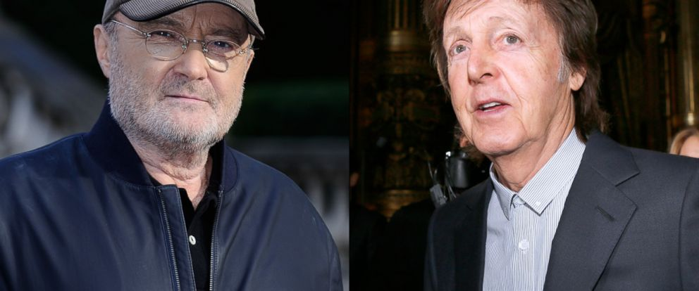 """PHOTO: Phil Collins attending a photocall to announce his """"Not Dead Yet"""" tour, on Oct. 17, 2016 