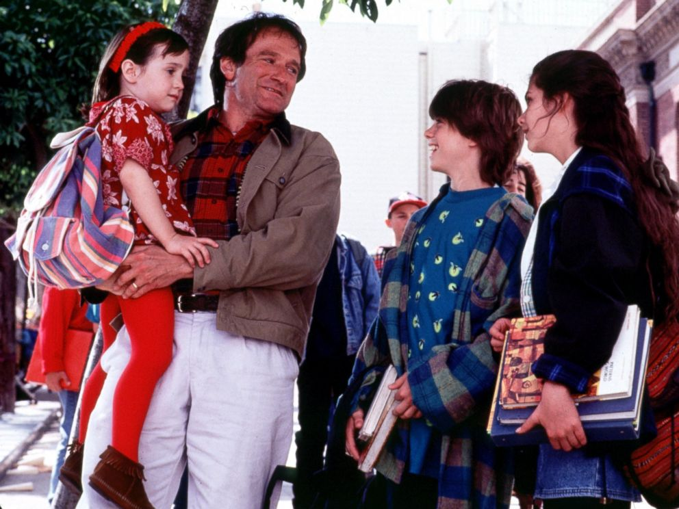 PHOTO: Mara Wilson, left, and Robin Williams, right, are pictured in a still from Mrs. Doubtfire.
