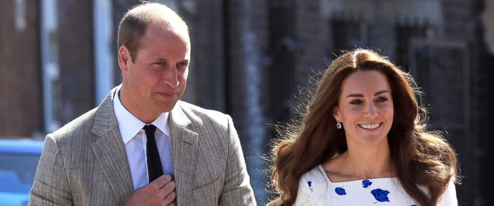 PHOTO: The Duke and Duchess of Cambridge arrive at Bute Mills in Luton, where they will tour the facilities of national charity Youthscape.