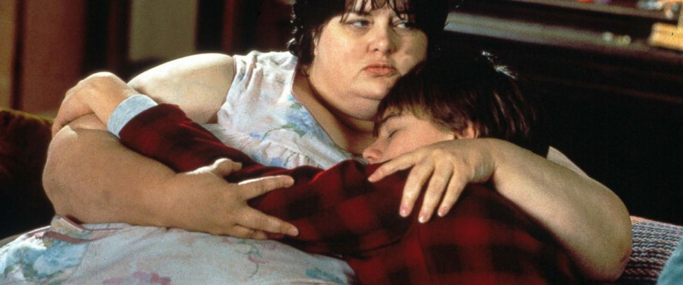 """PHOTO: Darlene Cates and Leonardo Dicaprio in the film, """"Whats Eating Gilbert Grape,"""" 1993."""