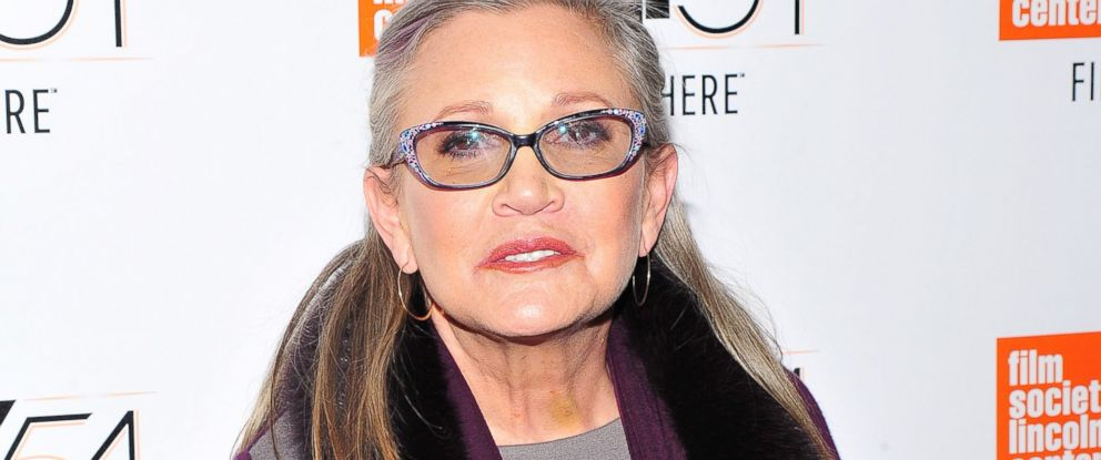 PHOTO: Carrie Fisher at the Bright Lights film premiere, New York Film Festival, Oct. 10, 2016.