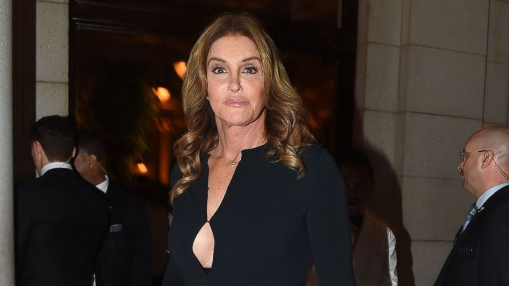 Caitlyn Jenner is pictured arriving for a candlelight dinner in Washington, D.C., Jan. 19, 2017.