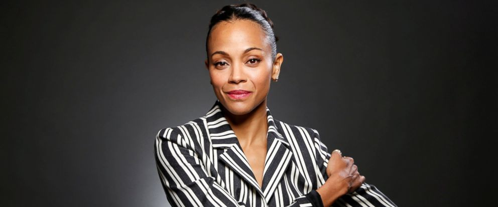 """PHOTO: Actor Zoe Saldana poses for a portrait while promoting Marvel Studios """"Guardians of the Galaxy Vol. 2."""" in West Hollywood, Calif., April 20, 2017."""