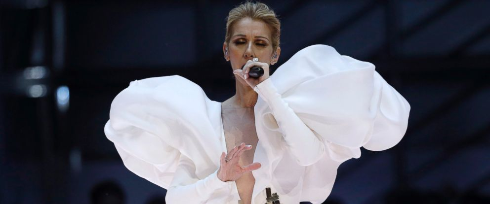 """PHOTO: Celine Dion performs """"My Heart Will Go On"""" at the 2017 Billboard Music Awards show, May 21, 2017, in Las Vegas."""