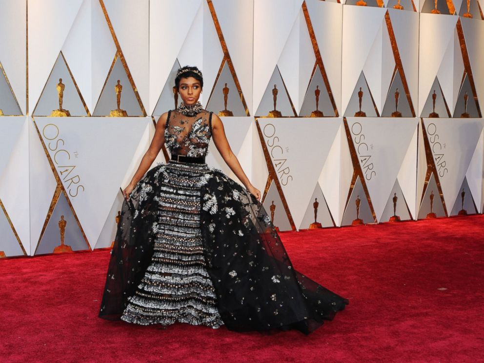 PHOTO: Janelle Monae arrives at the 89th Academy Awards, Feb. 26, 2017, in Hollywood, Calif.