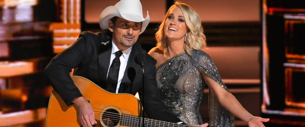 PHOTO: Hosts Brad Paisley and Carrie Underwood open the show at the 50th Annual Country Music Association Awards in Nashville, Tenn., November 2, 2016.
