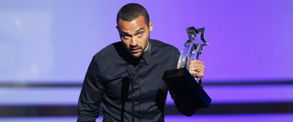 PHOTO: Actor Jesse Williams accepts the Humanitarian Award during the 2016 BET Awards in Los Angeles, June 26, 2016.