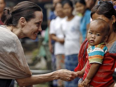 Angelina Jolie Visits Refugees in Myanmar