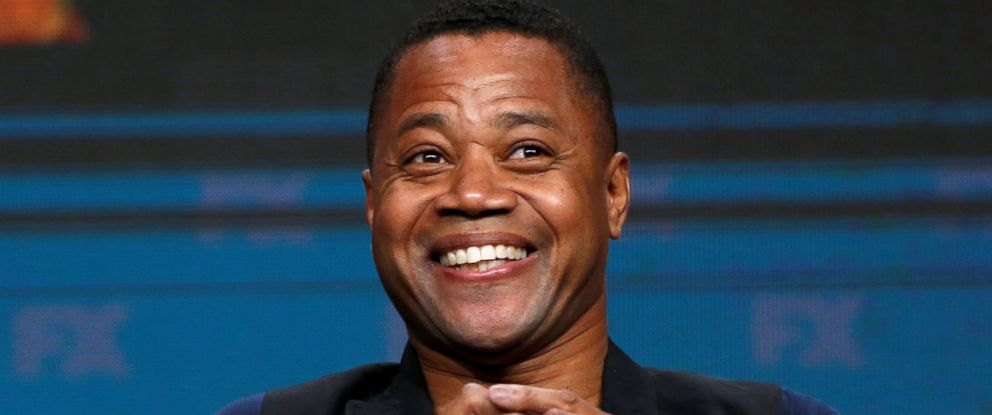 "PHOTO: Cast member Cuba Gooding Jr. smiles at a panel for the television series ""The People v. O.J. Simpson: American Crime Story,"" in Beverly Hills, California, Aug. 9, 2016."
