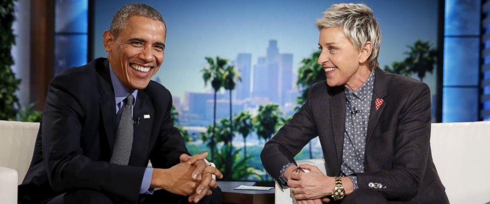 PHOTO: President Barack Obama appears on a taping of the Ellen DeGeneres Show in Burbank, Calif., Feb. 11, 2016.