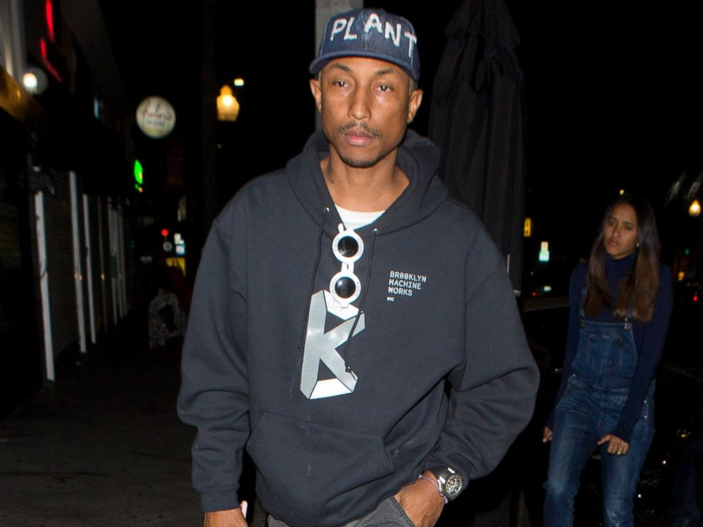 PHOTO:Pharrell Williams was seen at Lady Gagas private birthday party at No Name Restaurant in Los Angeles.