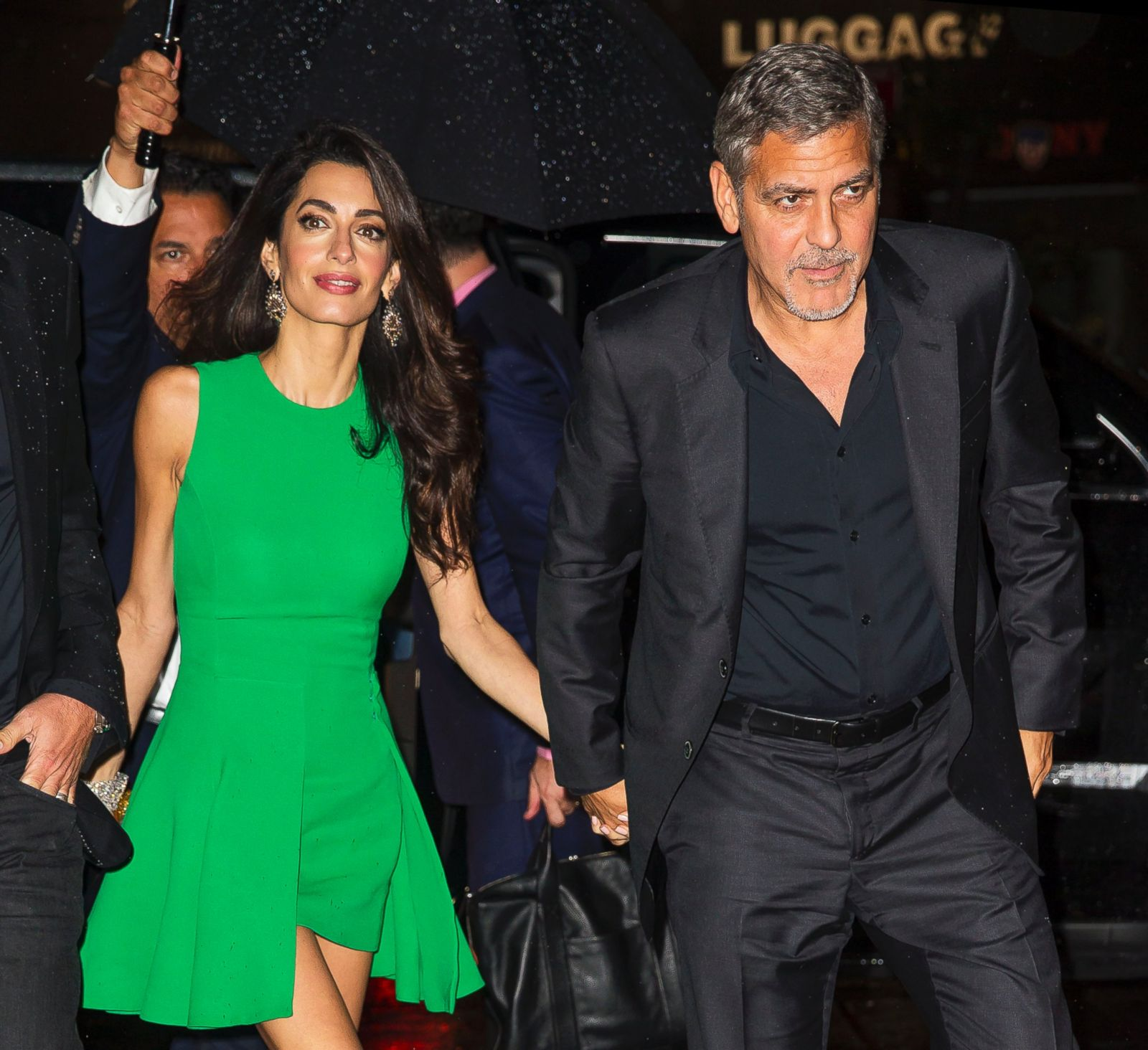 Amal Clooney Goes Green For George S Red Carpet Picture