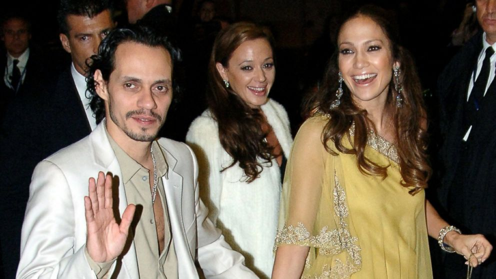 Marc Anthony, Leah Remini and Jennifer Lopez return to the Hassler Hotel in Rome, Italy, after attending Tom Cruise and Katie Holmes' rehearsal dinner.