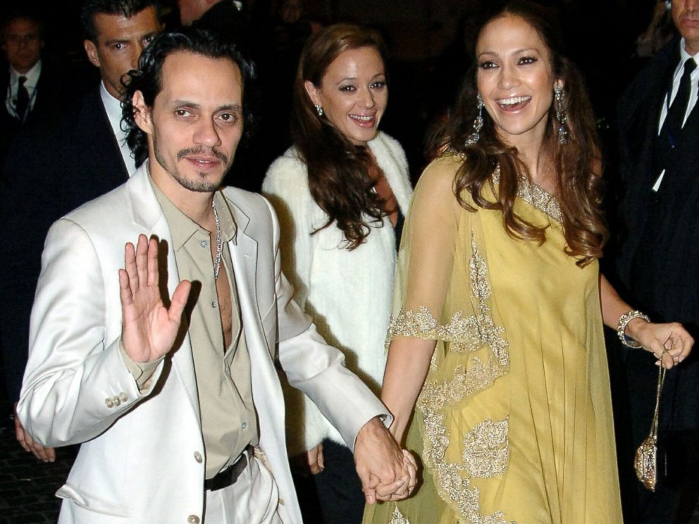 PHOTO: Marc Anthony, Leah Remini and Jennifer Lopez return to the Hassler Hotel in Rome, Italy, after attending Tom Cruise and Katie Holmes rehearsal dinner.