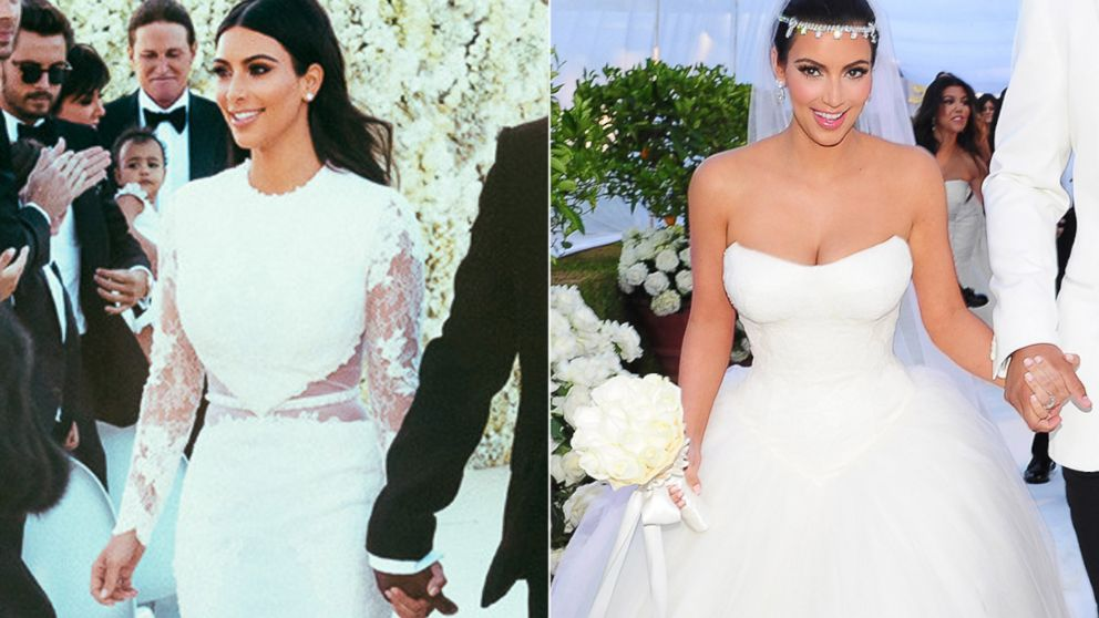 How Kim Kardashian's Weddings To Kanye West And Kris