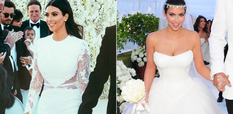 How Kim Kardashian S Weddings To Kanye West And Kris Humphries Compare Abc News