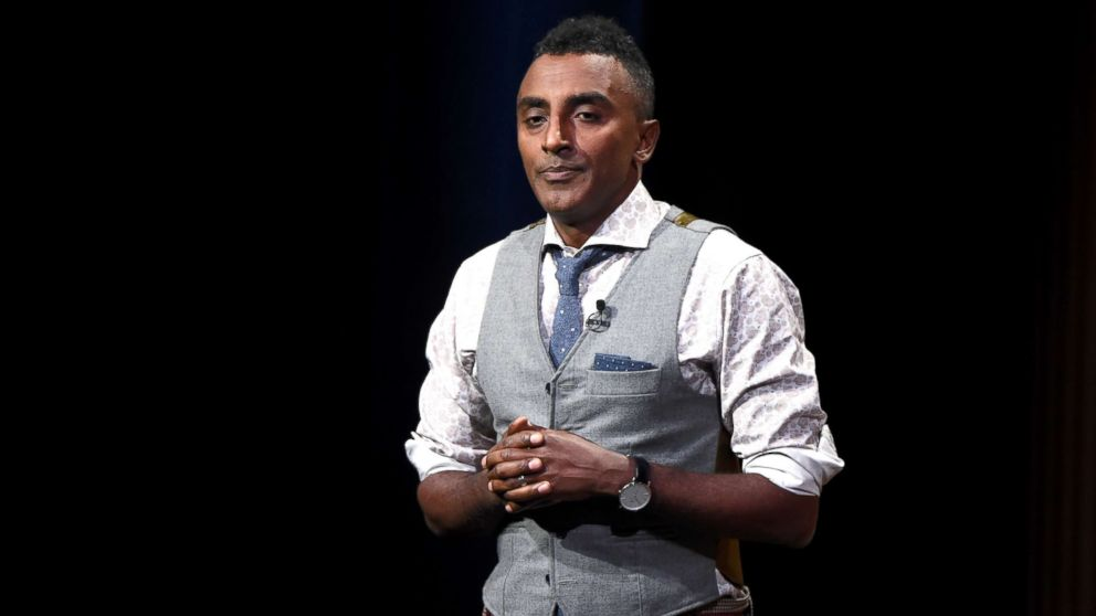 """Chef/co-owner at Red Rooster Harlem, Marcus Samuelsson, speaks onstage during """"Letter from Harlem: Investing in a Community"""" at the Vanity Fair New Establishment Summit at Yerba Buena Center for the Arts, Oct. 20, 2016, in San Francisco, Calif."""