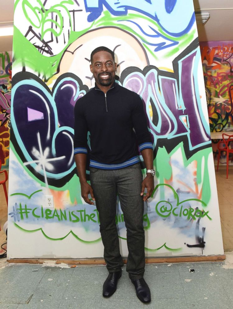PHOTO: Sterling K. Brown at a new Youth Opportunity Hub in Harlem, New York, Feb. 27, 2018.