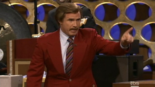 VIDEO: Will Ferrell gets into Ron Burgundy character to announce Anchorman sequel.