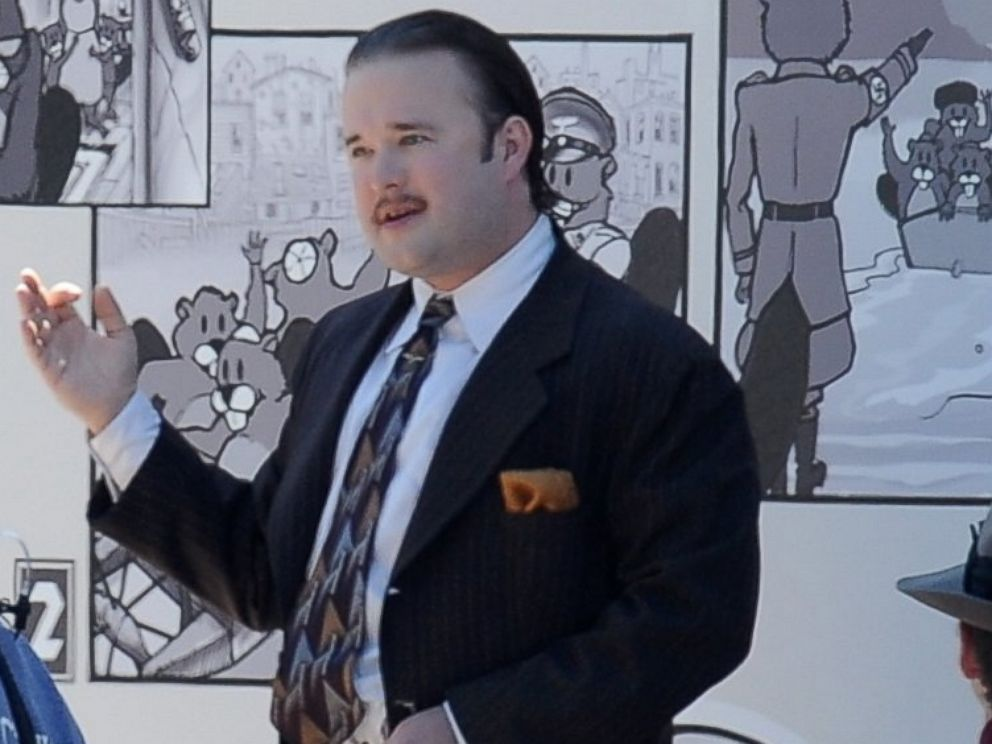 PHOTO: Actor Haley Joel Osment plays a Nazi in the new movie Yoga Hosers filming in downtown Los Angeles, Sept. 9, 2014.