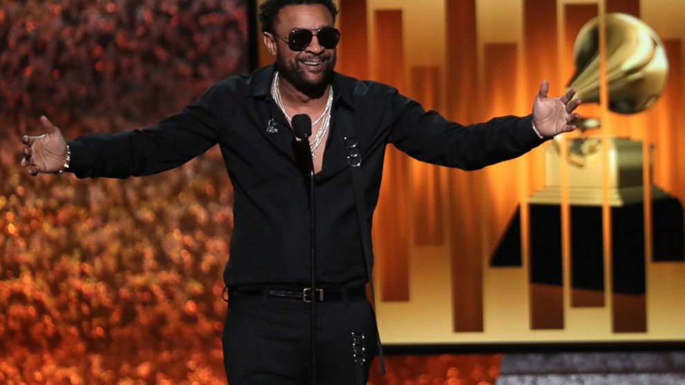 Host Shaggy speaks at the 61st annual Grammy Awards on Sunday, Feb. 10, 2019, in Los Angeles. (Photo by Matt Sayles/Invision/AP)