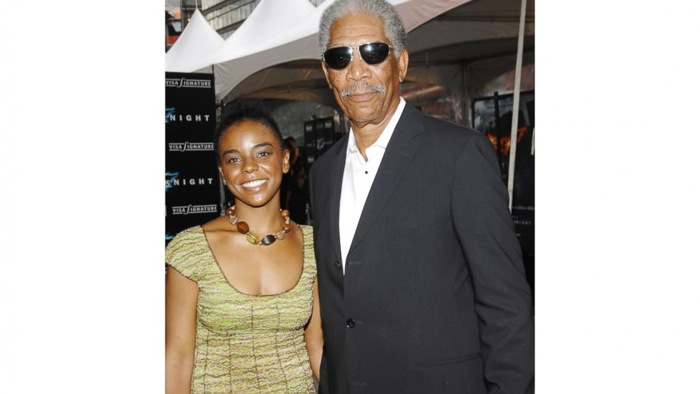 """FILE - In this July 14, 2008 file photo, actor Morgan Freeman and step-granddaughter E'Dena Hines attend the world premiere of """"The Dark Knight"""" in New York. A man has been sentenced on Thursday, Jan. 17, 2019, to 20 years in prison for the fatal stabbing of Hines, in New York City. Prosecutors say 33-year-old Lamar Davenport stabbed his girlfriend Hines multiple times in August 2015 while under the influence of alcohol and drugs. (AP Photo/Evan Agostini, File)"""