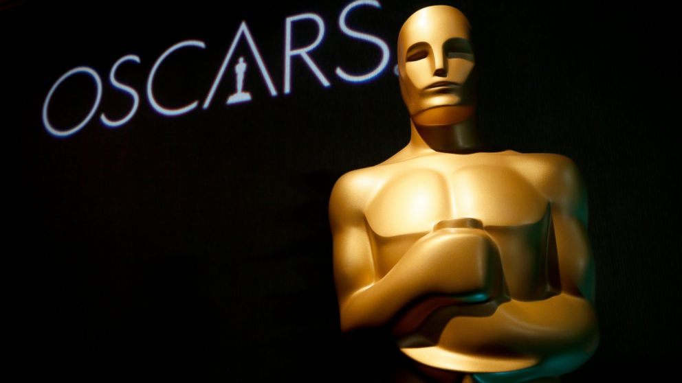 FILE - In this Feb. 4, 2019 file photo, an Oscar statue appears at the 91st Academy Awards Nominees Luncheon in Beverly Hills, Calif. A spokesperson for the Academy of Motion Picture Arts and Sciences said Monday that the awards for cinematography, film editing, makeup and hairstyling and live-action short will be presented off-air. The winning speeches will air later in the broadcast and will also be live-streamed on Oscar.com and the film academy's social accounts. The plan to change up the format in service of a truncated three-hour runtime was announced in August. (Photo by Danny Moloshok/Invision/AP, File)