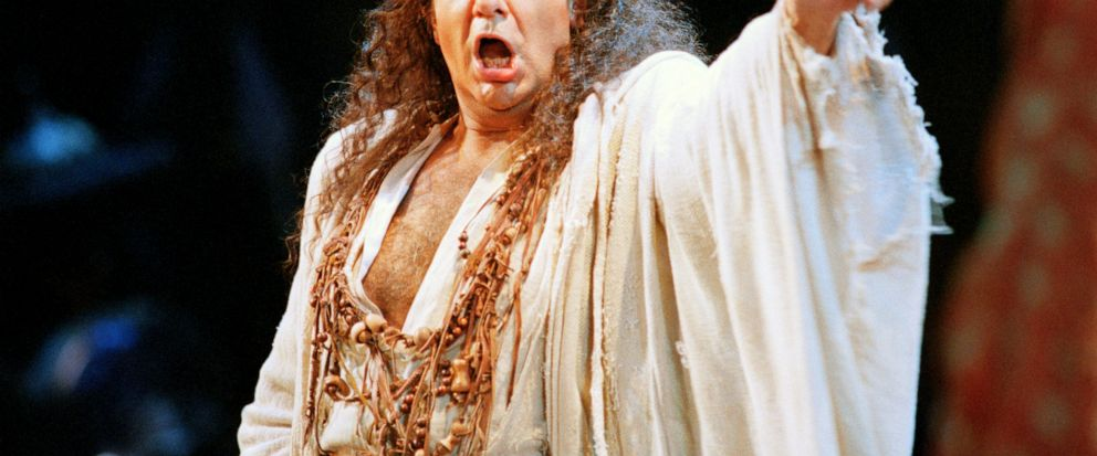 """FILE - In this Nov. 5, 1994 file photo, Placido Domingo performs in the San Francisco Operas production of """"Herodiade"""" in San Francisco. On Tuesday, Aug. 13, 2019, the San Francisco Opera said it is canceling an October concert featuring Domingo aft"""