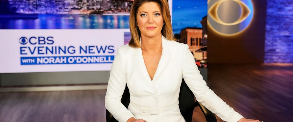 "This image released by CBS shows Norah ODonnell, host of the new ""CBS Evening News with Norah ODonnell."" S News is making changes with its evening newscast, and the first happens on Monday, July 15, 2019, when Norah O'Donnell takes over as anchor."