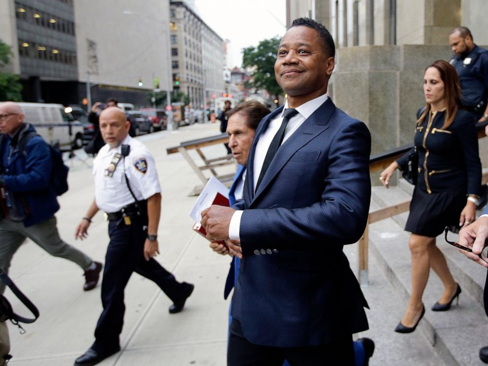 Cuba Gooding Jr. leaves criminal court Thursday, June 13, 2019, in New York. A 29-year-old woman told police the 51-year-old Gooding grabbed her breast while he was intoxicated around 11:15 p.m. Sunday. Gooding denies the allegations. (AP Photo/Frank
