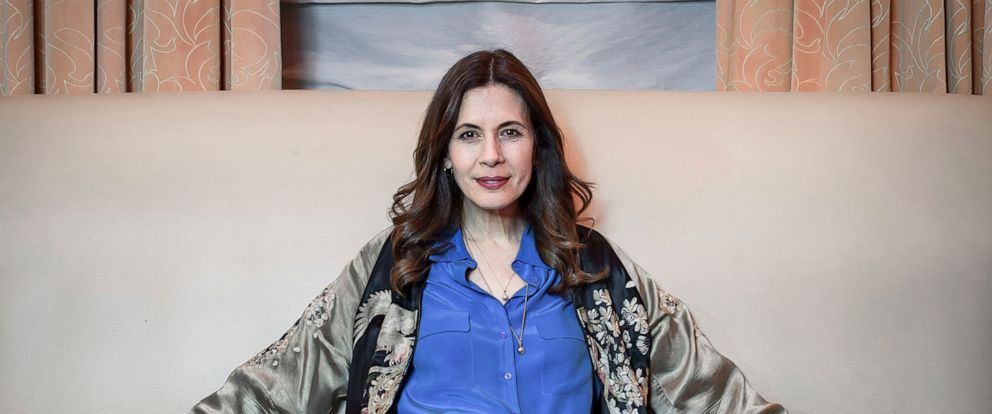 """This April 24, 2019 photo shows actress Jessica Hecht posing for a portrait at the JW Marriott Essex House in New York to promote her Netflix series """"Special."""" (Photo by Christopher Smith/Invision/AP)"""