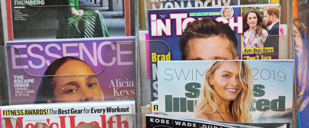 FILE - In this May 28, 2019, file photo, an issue of Sports Illustrated is displayed on a newsstand in New York. BlackRock is taking a sizeable stake in the parent of Sports Illustrated and the retail chains Nine West and Aeropostale, becoming the co