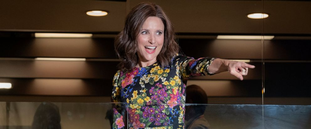 """This image released by HBO shows Julia Louis-Dreyfus in a scene from """"Veep."""" """"Game of Thrones,"""" """"Veep"""" and """"The Big Bang Theory,"""" three major series that wrapped last season, will find out with Tuesdays nominations if they have one more chance at Em"""