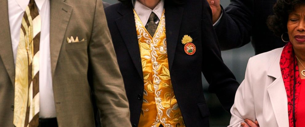FILE - In this May 25, 2005 file photo, Michael Jackson arrives at the Santa Barbara County Courthouse for his child molestation trial in Santa Maria, Calif. A documentary film about two boys who accused Michael Jackson of sexual abuse is set to prem