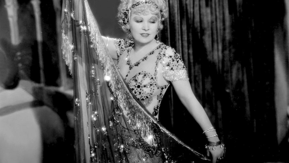 """This image released by PBS shows Mae West in a scene from the 1933 film """"I'm No Angel."""" """"Mae West: Dirty Blonde,"""" the first major documentary film on this cultural figure, makes its world premiere Tuesday on PBS, an attempt to look beyond West's gown"""