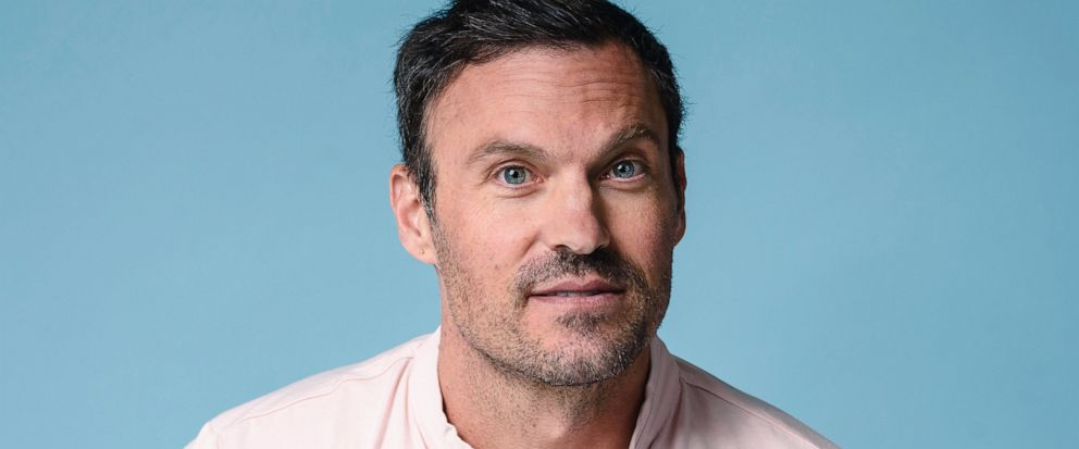 "Brian Austin Green poses for a portrait at The Associated Press on Tuesday, Aug. 13, 2019, in New York City. Green says if Tori Spelling and Jennie Garth, along with the other creators of ""BH90210,"" had approached him with a standard reboot of the 90"