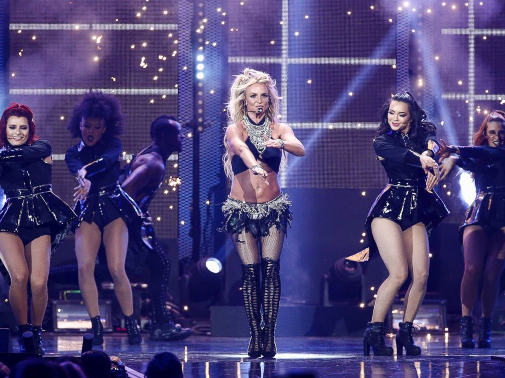 In this Sept. 24, 2016 file photo, Britney Spears performs at the 2016 iHeartRadio Music Festival - Day 2 held at T-Mobile Arena in Las Vegas.