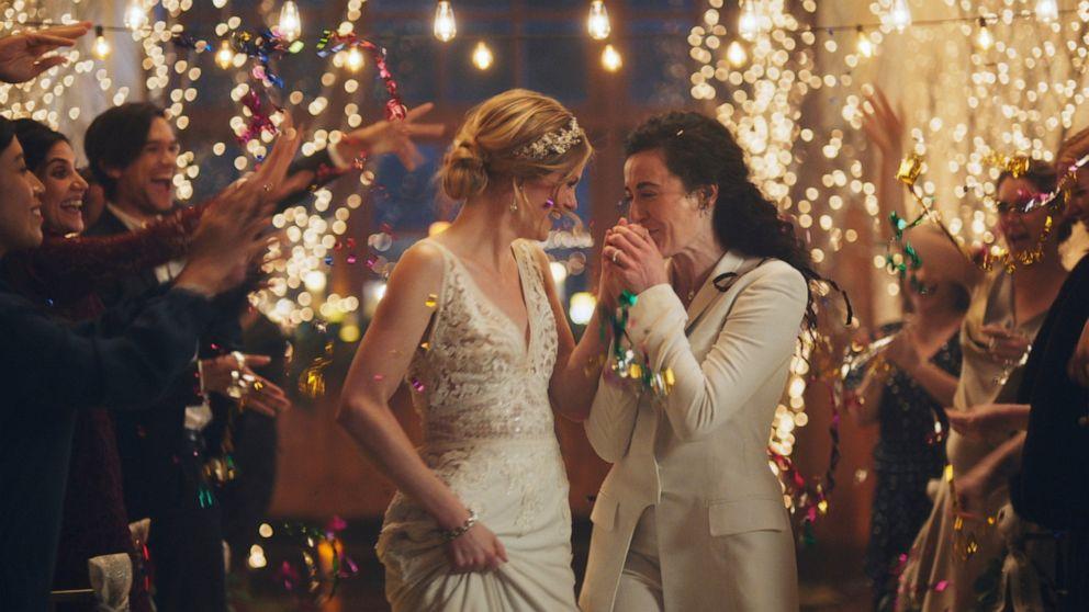 加圧下で最大の特徴を引ゲイをテーマに結婚の広告