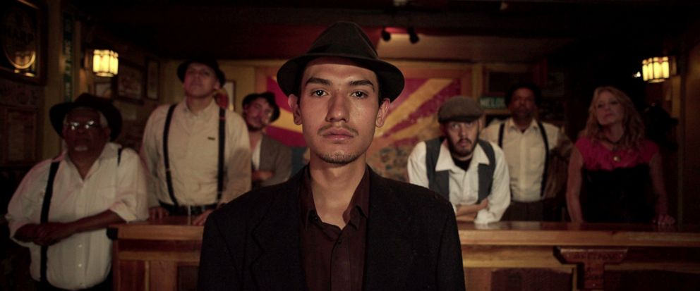 """This undated photo provided by 4th Row Films shows Fernando Serrano, 23, who plays a striking miner in """"Bisbee 17,"""" a story of how some 1,200 miners, most of them immigrants, were pulled violently from their homes in Bisbee, Ariz., by a private poli"""