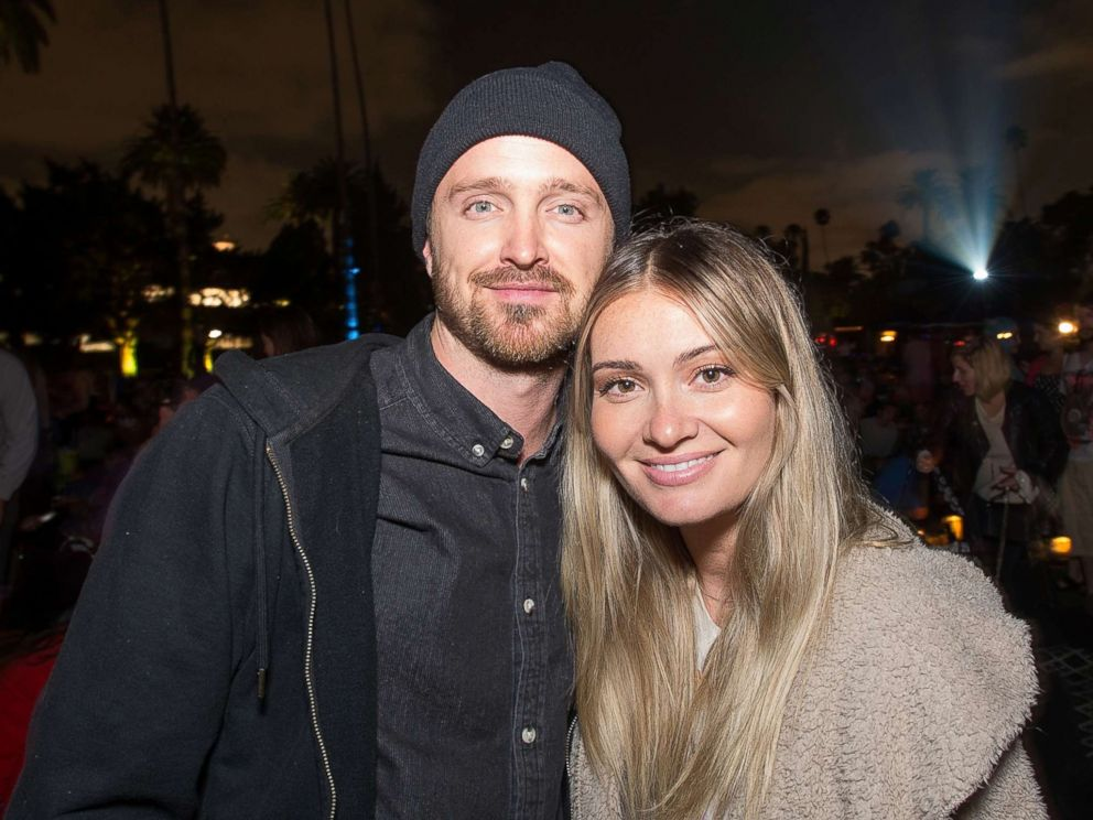 PHOTO: Aaron Paul and Lauren Parsekian attend Cinespias screening of Some Like It Hot held at Hollywood Forever, Aug. 19, 2017, in Hollywood, Calif.