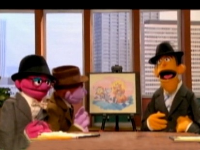 VIDEO: Mad Men is spoofed in an episode of Sesame Street.
