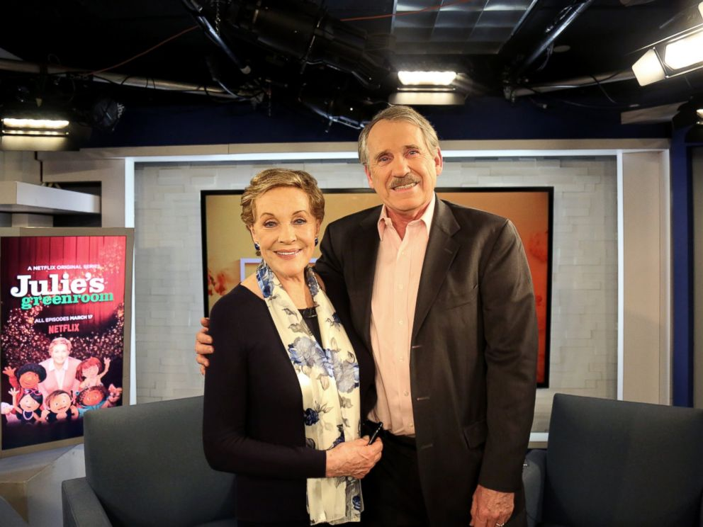 PHOTO: Julie Andrews and Peter Travers on Popcorn, Feb. 8, 2017.